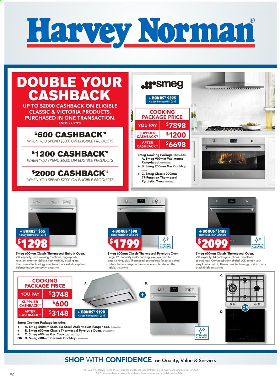 Harvey Norman catalogue  - 18.9.2020 - 27.9.2020. Page 2.