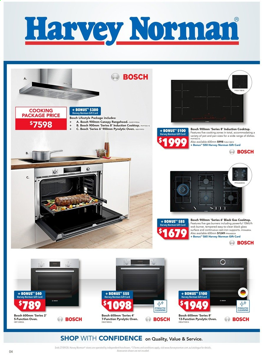 Harvey Norman catalogue  - 18.9.2020 - 27.9.2020. Page 4.
