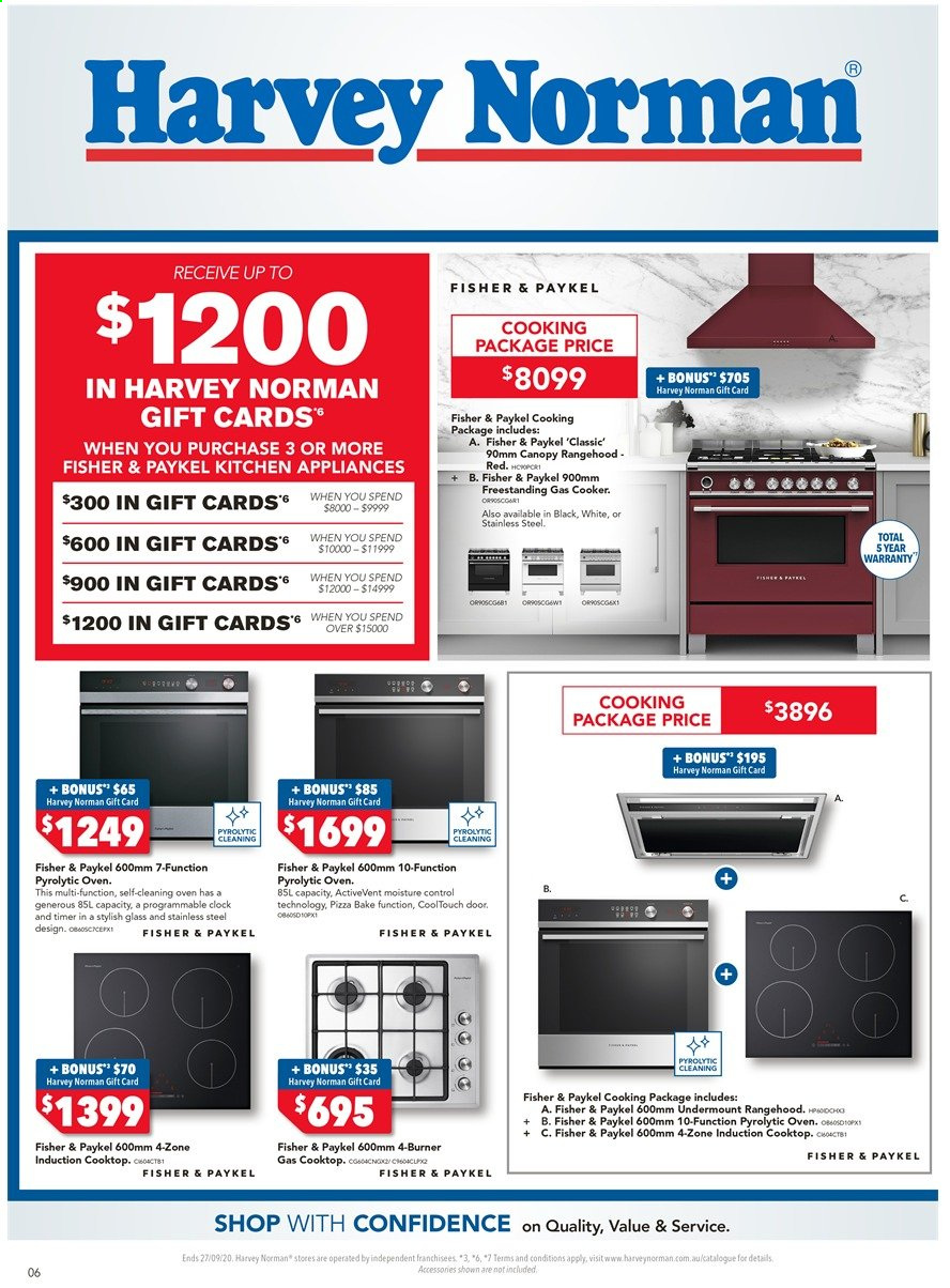 Harvey Norman catalogue  - 18.9.2020 - 27.9.2020. Page 6.