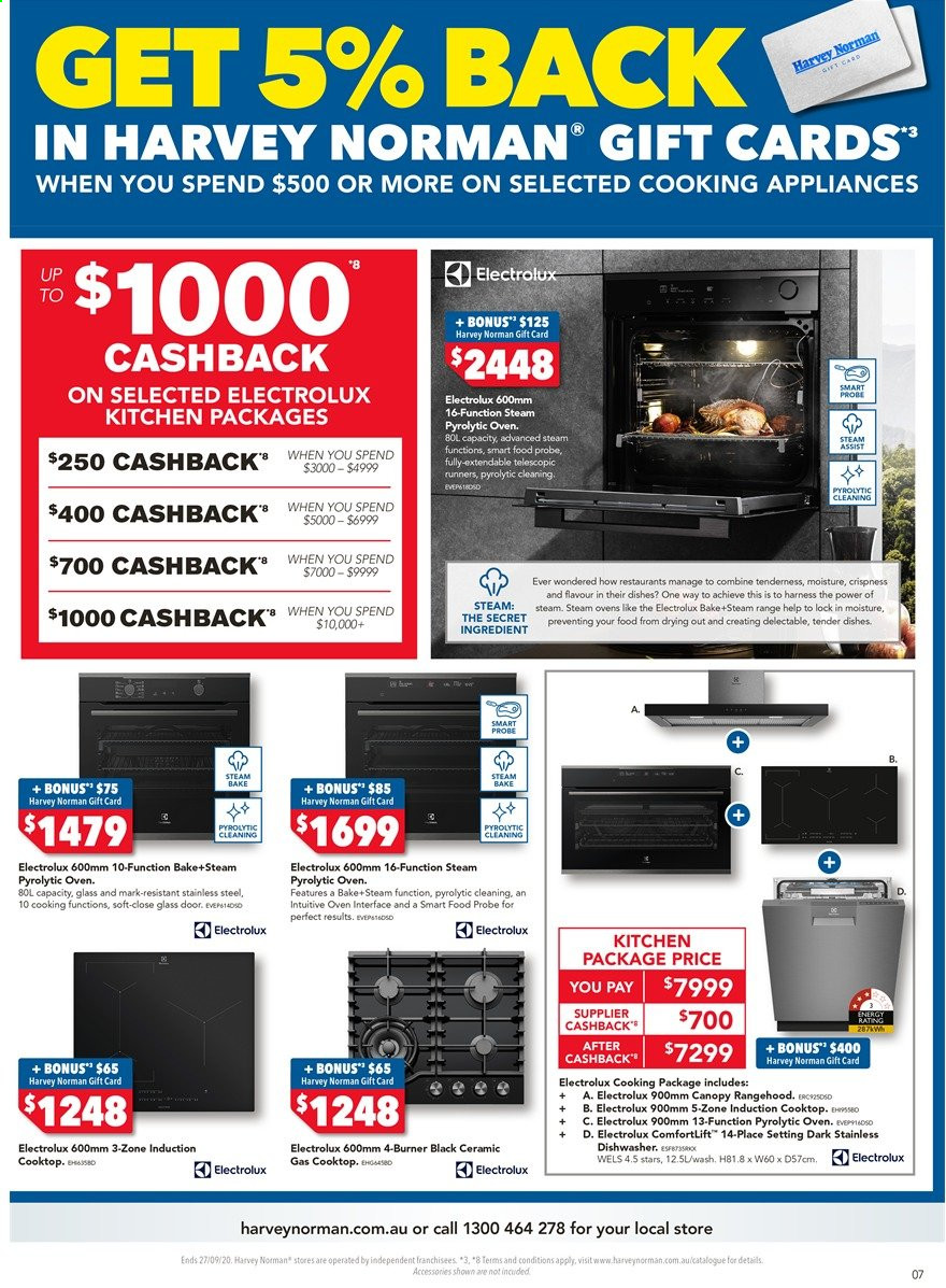 Harvey Norman catalogue  - 18.9.2020 - 27.9.2020. Page 7.