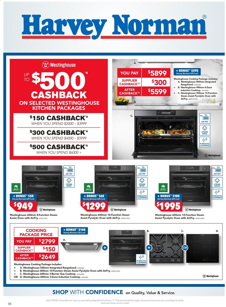 Harvey Norman catalogue  - 18.9.2020 - 27.9.2020. Page 8.