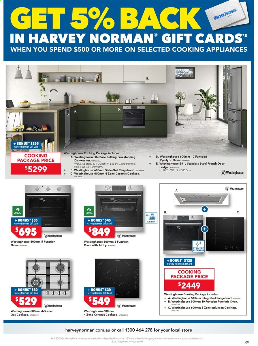 Harvey Norman catalogue  - 18.9.2020 - 27.9.2020. Page 9.
