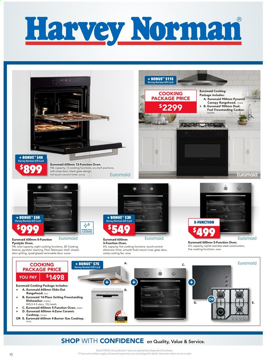 Harvey Norman catalogue  - 18.9.2020 - 27.9.2020. Page 10.
