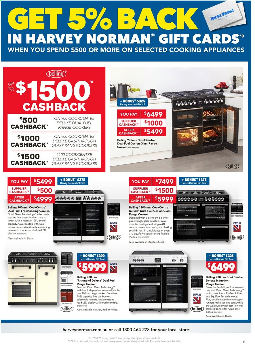 Harvey Norman catalogue  - 18.9.2020 - 27.9.2020. Page 11.