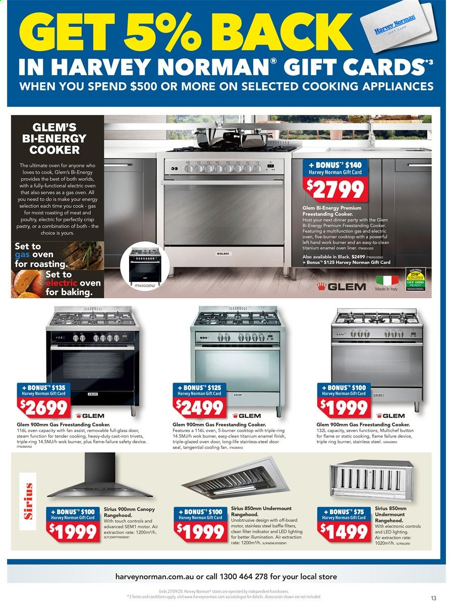 Harvey Norman catalogue  - 18.9.2020 - 27.9.2020. Page 13.
