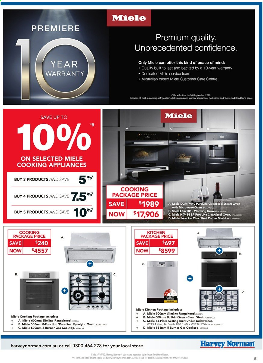 Harvey Norman catalogue  - 18.9.2020 - 27.9.2020. Page 15.