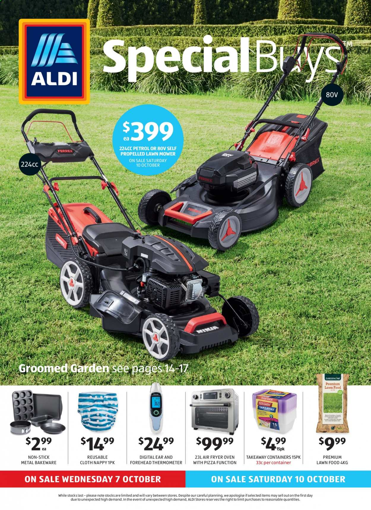 ALDI Catalogue - 7.10.2020 - 13.10.2020 - Sales products - container, fryer, thermometer, pizza, oven, air fryer. Page 1.