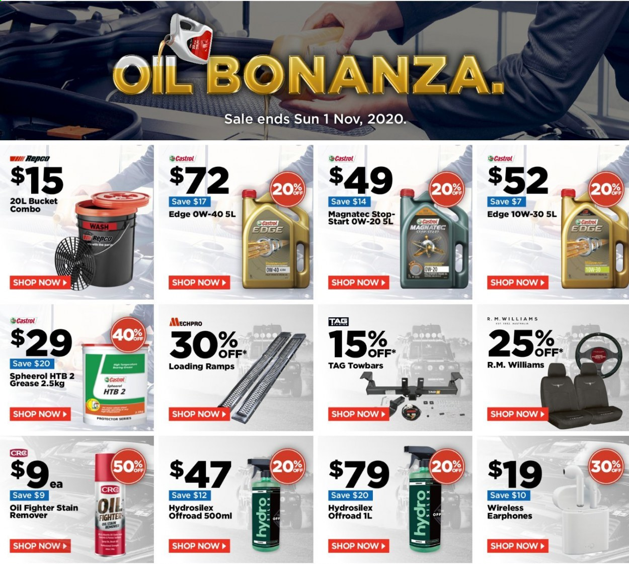 Repco Catalogue - 26.10.2020 - 1.11.2020 - Sales products - bucket, remover, oil. Page 1.