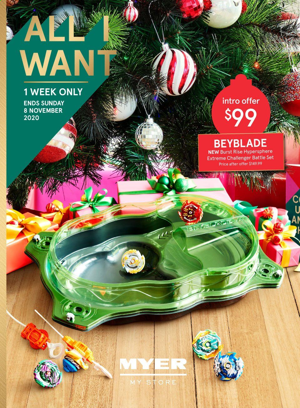 Myer Catalogue - 2.11.2020 - 8.11.2020 - Sales products - beyblade. Page 1.
