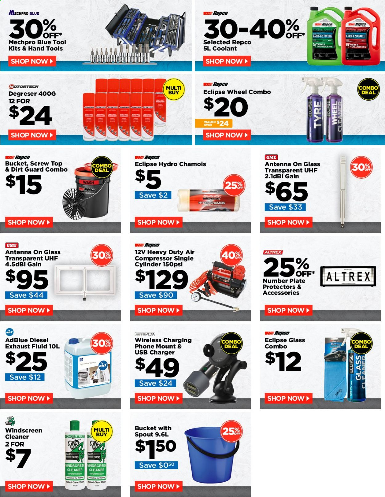 Repco Catalogue - 1.11.2020 - 30.11.2020 - Sales products - air compressor, Gain, USB, plate, charger, antenna, bucket, cleaner, phone, bar, tools, heavy duty. Page 1.