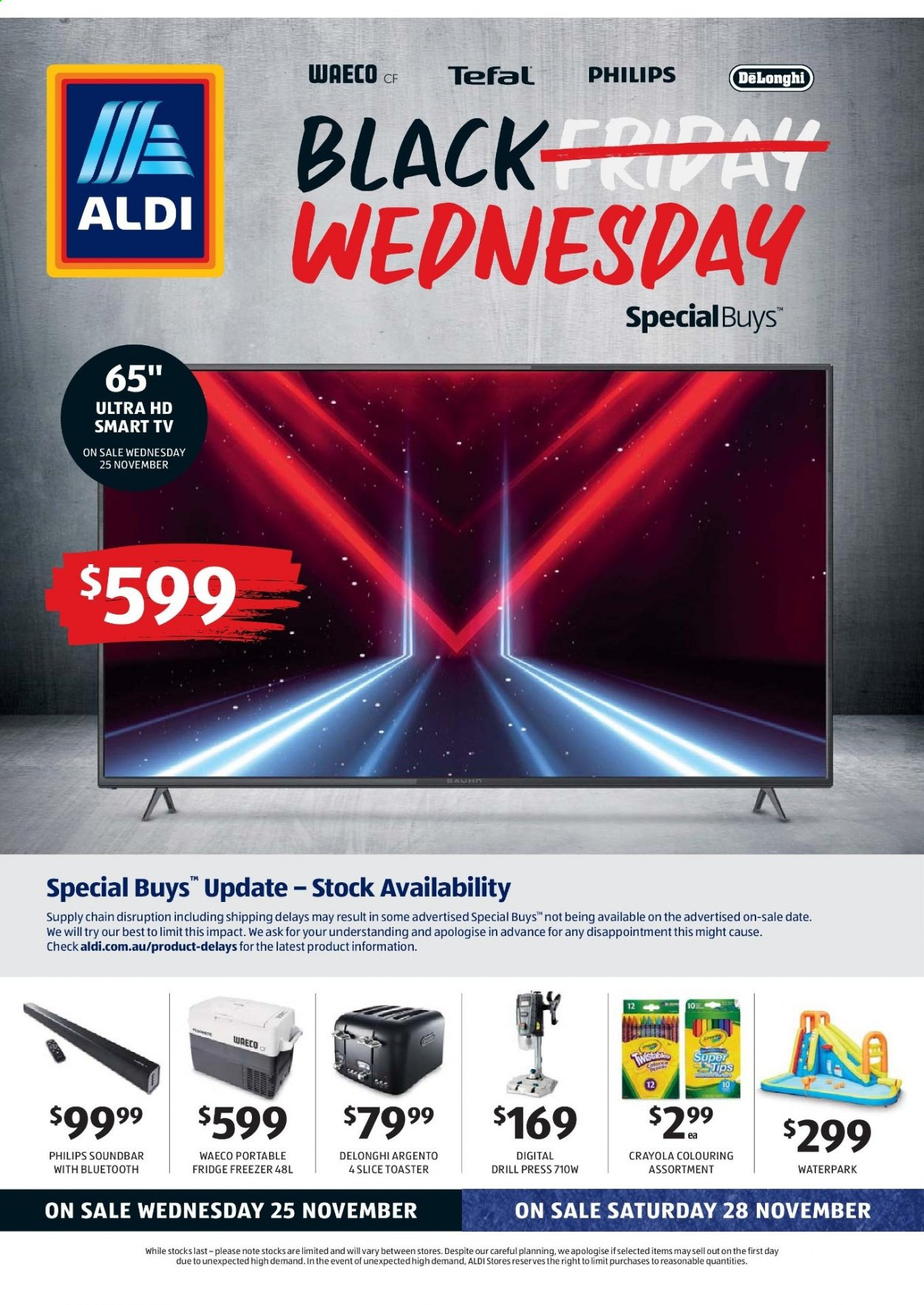 ALDI Catalogue - 25.11.2020 - 1.12.2020 - Sales products - Philips, Tefal, toaster, TV. Page 1.