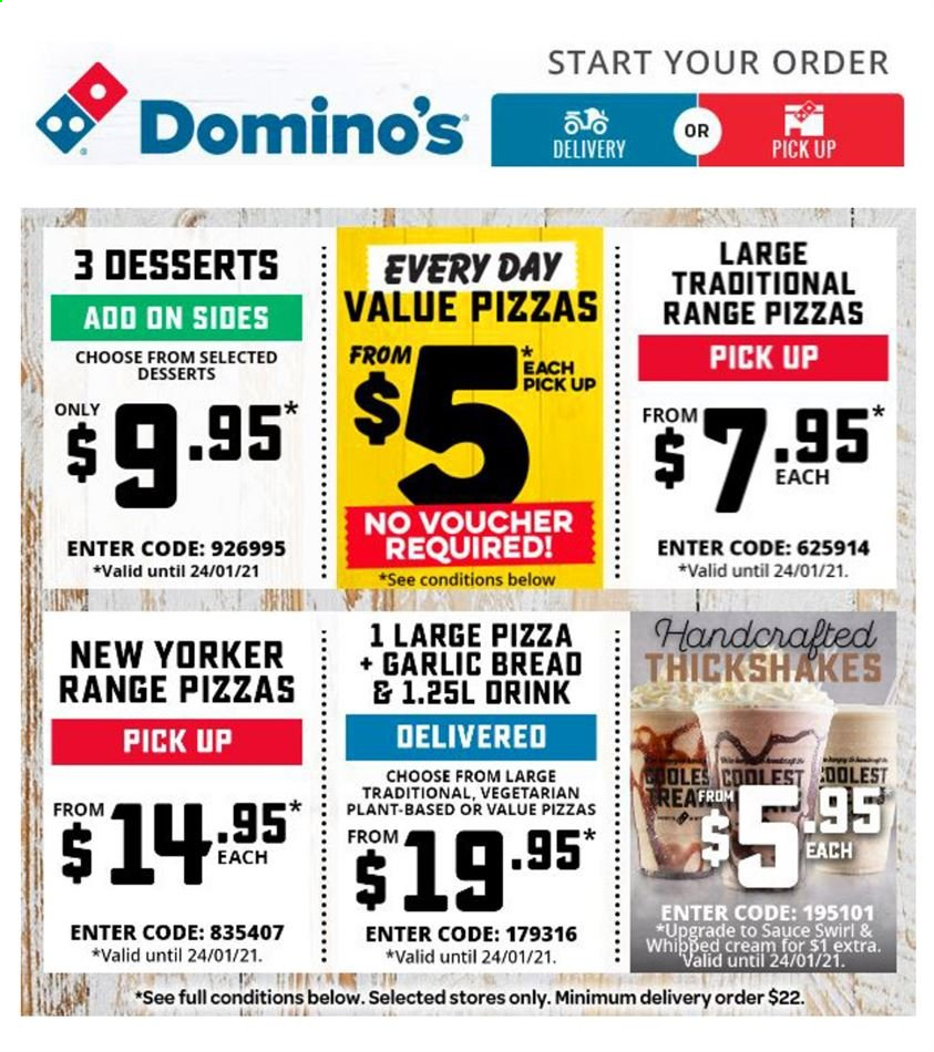 Domino's Catalogue - 24.1.2021 - 24.1.2021 - Sales products - pizza, vegetarian. Page 1.