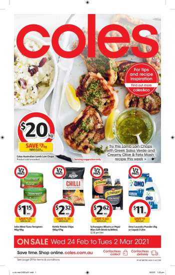 Coles Catalogue - 24.2.2021 - 2.3.2021.