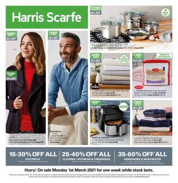 Harris Scarfe Catalogue.