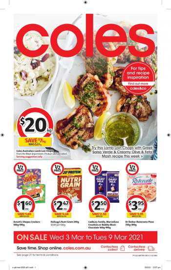 Coles Catalogue - 3.3.2021 - 9.3.2021.
