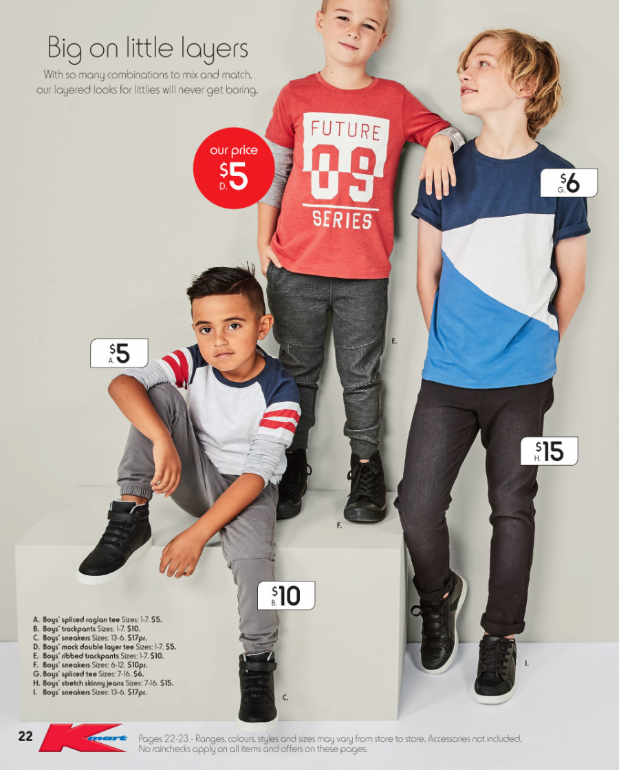 Kmart catalogue  - 8.3.2018 - 28.3.2018. Page 22.