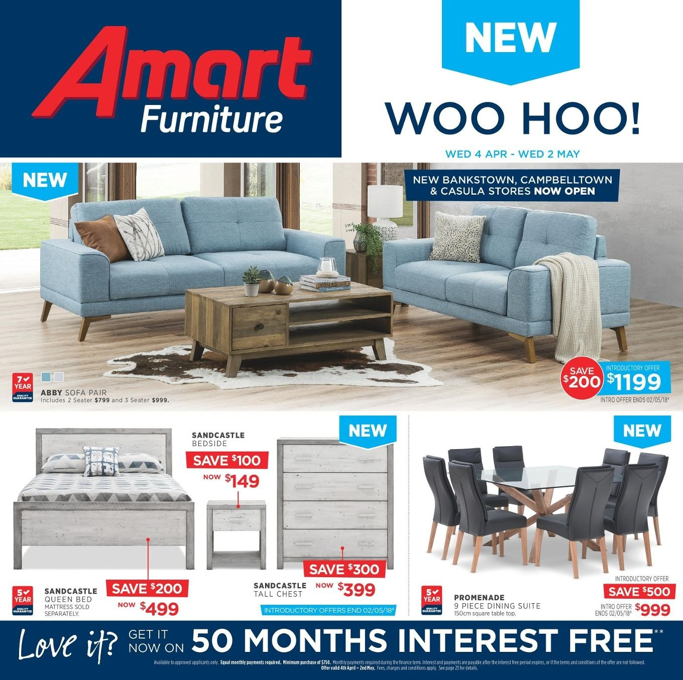 Amart Furniture catalogue  - 4.4.2018 - 2.5.2018. Page 1.