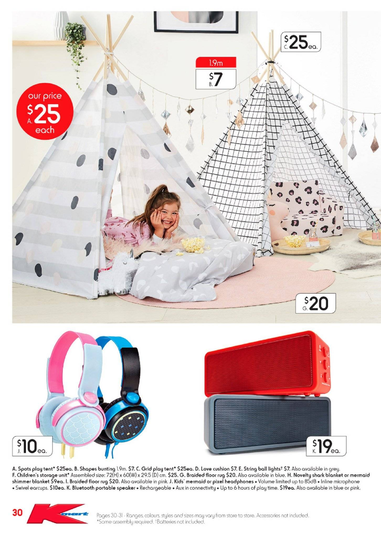 Kmart catalogue  - 28.6.2018 - 18.7.2018. Page 30.