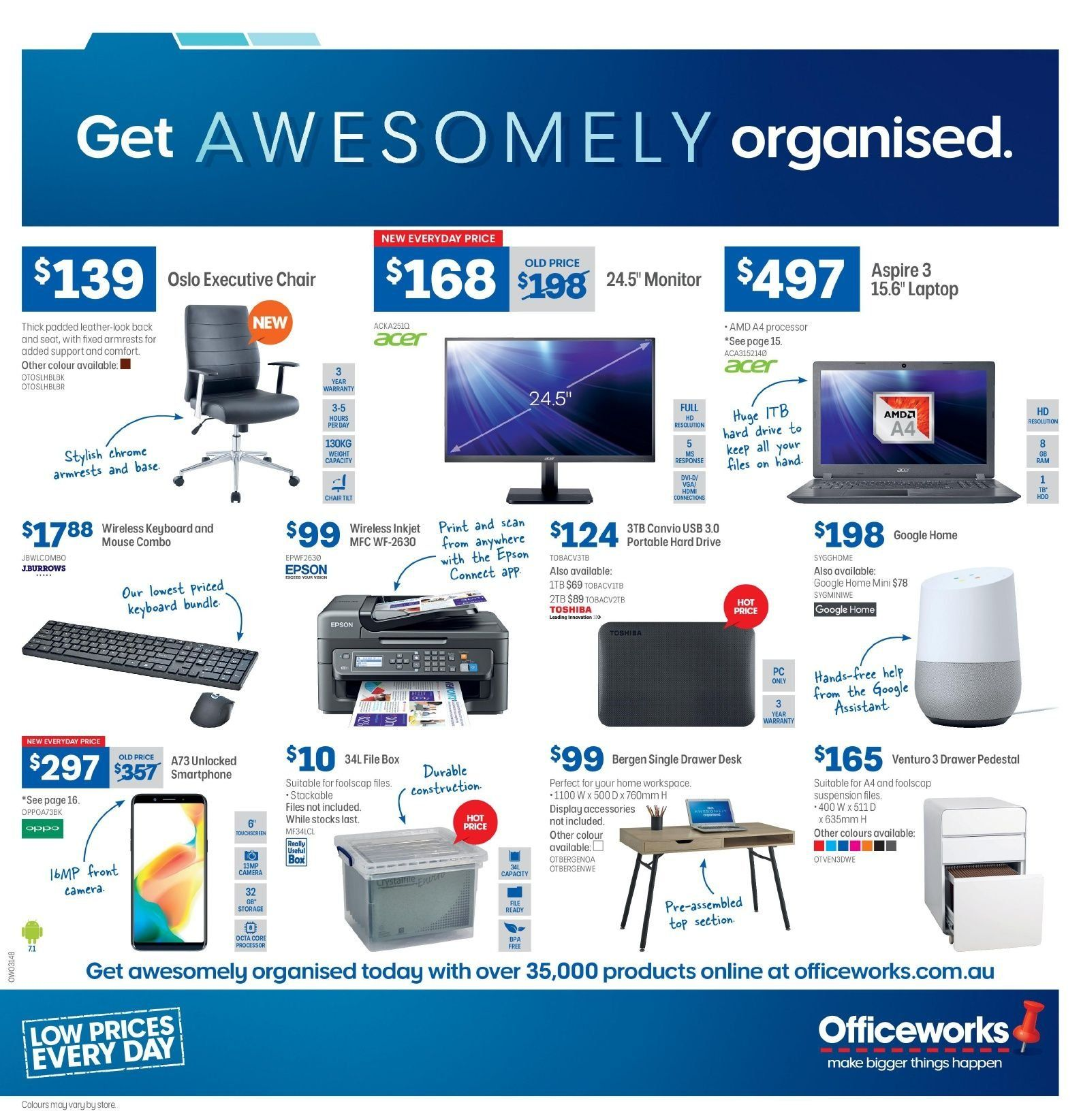 Current catalogue Officeworks