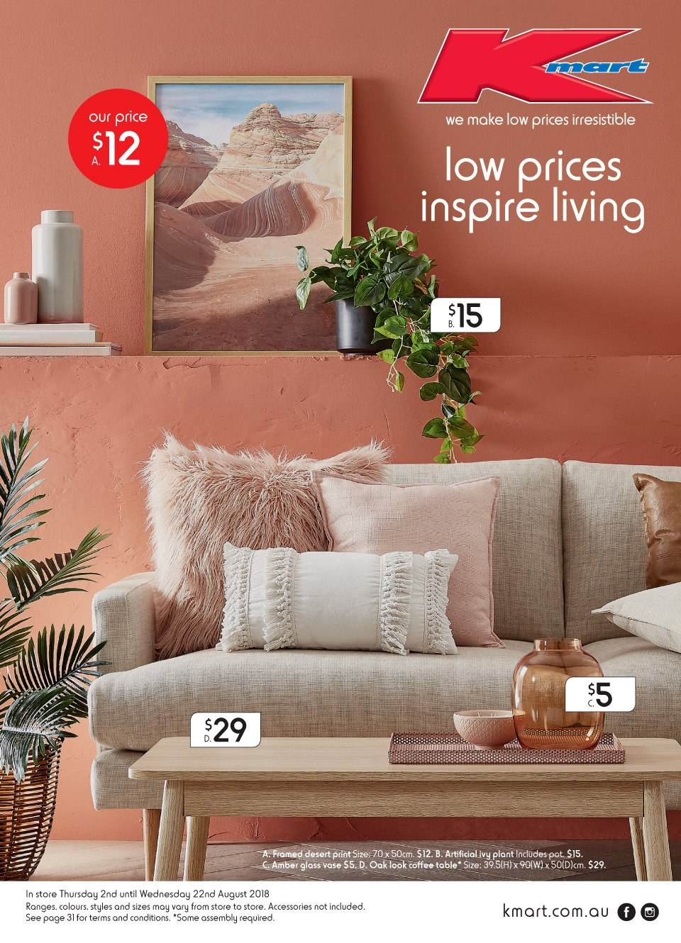 Kmart catalogue  - 2.8.2018 - 22.8.2018. Page 1.