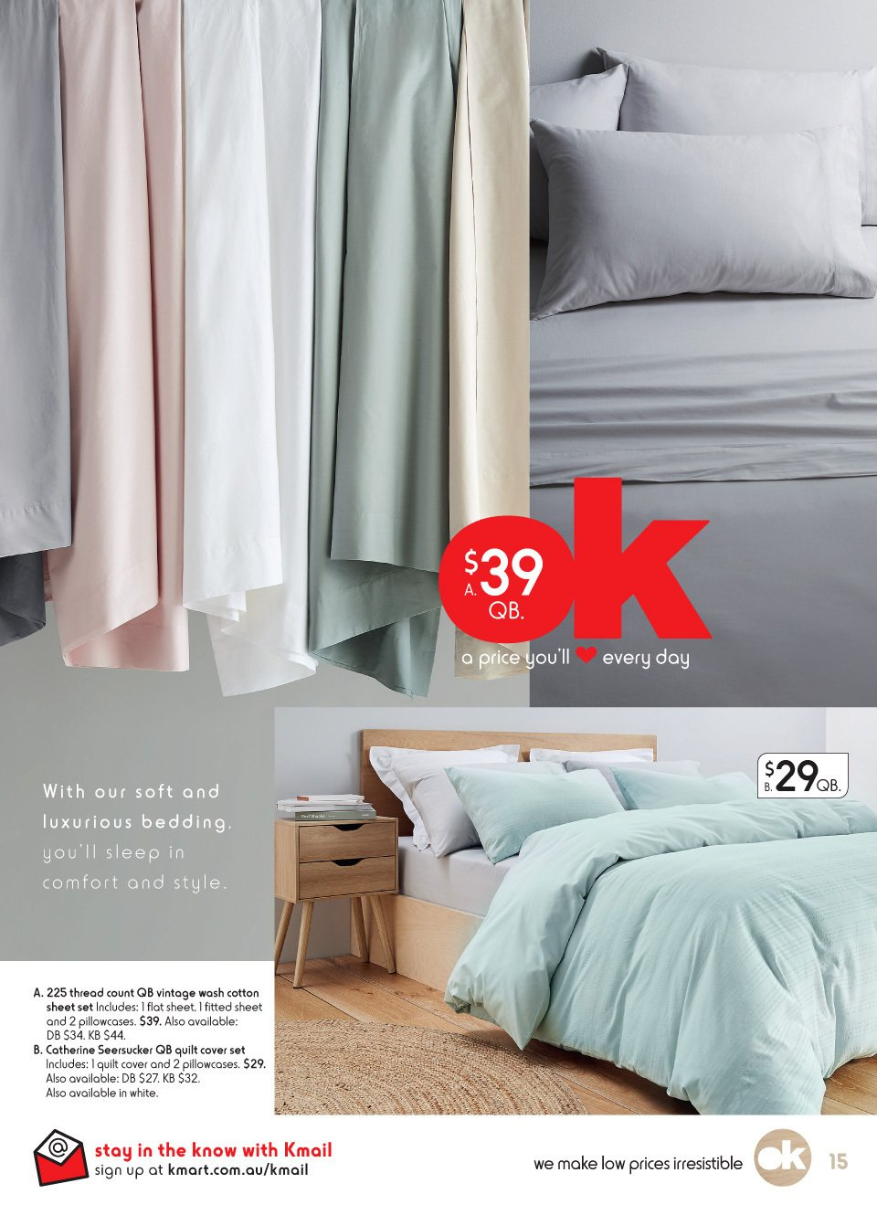 Kmart catalogue  - 2.8.2018 - 22.8.2018. Page 15.