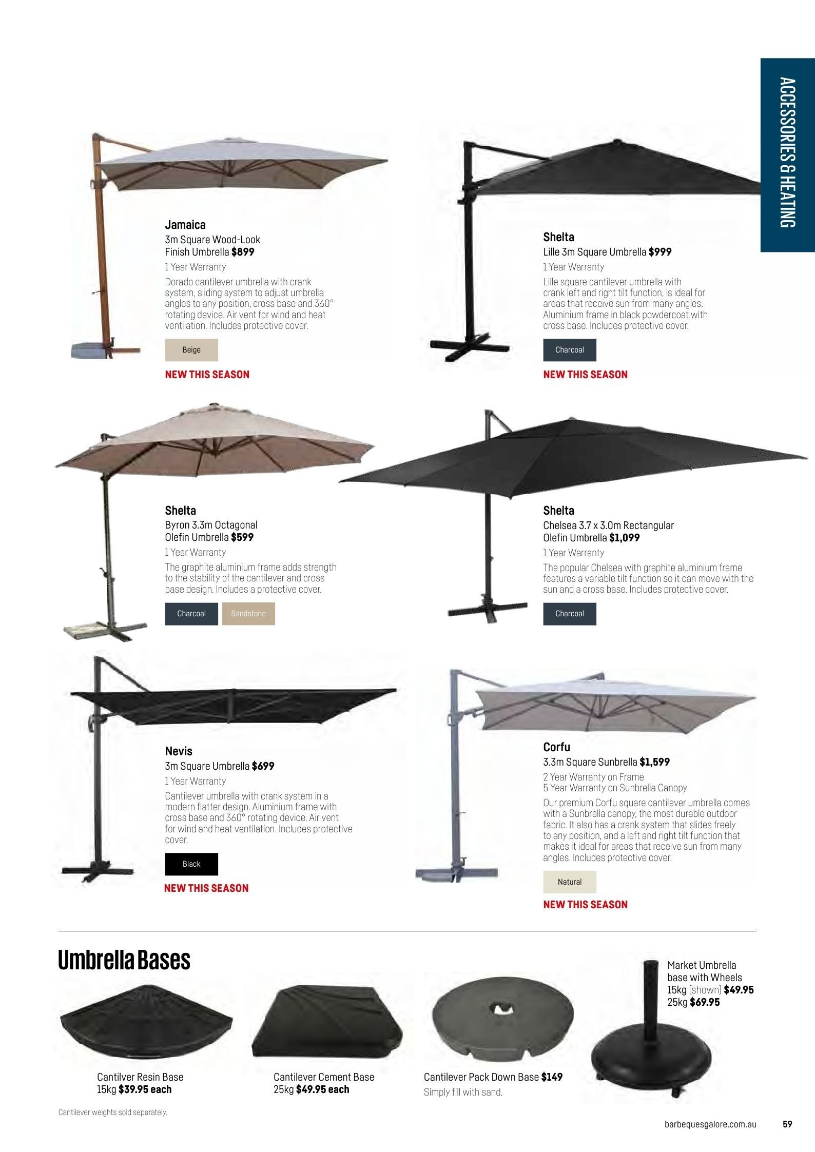 Barbeques galore catalogue sales products canopy slides wind charcoal page