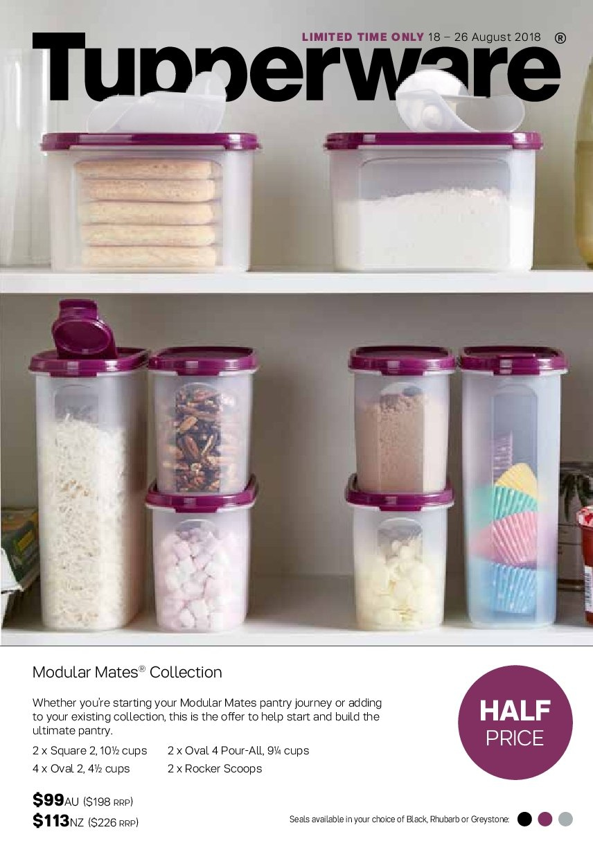 Tupperware catalogue  - 18.8.2018 - 26.8.2018. Page 1.