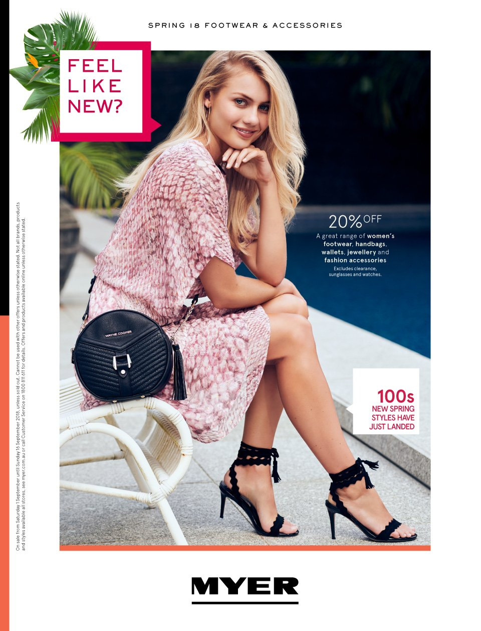 Myer catalogue  - 1.9.2018 - 16.9.2018. Page 1.