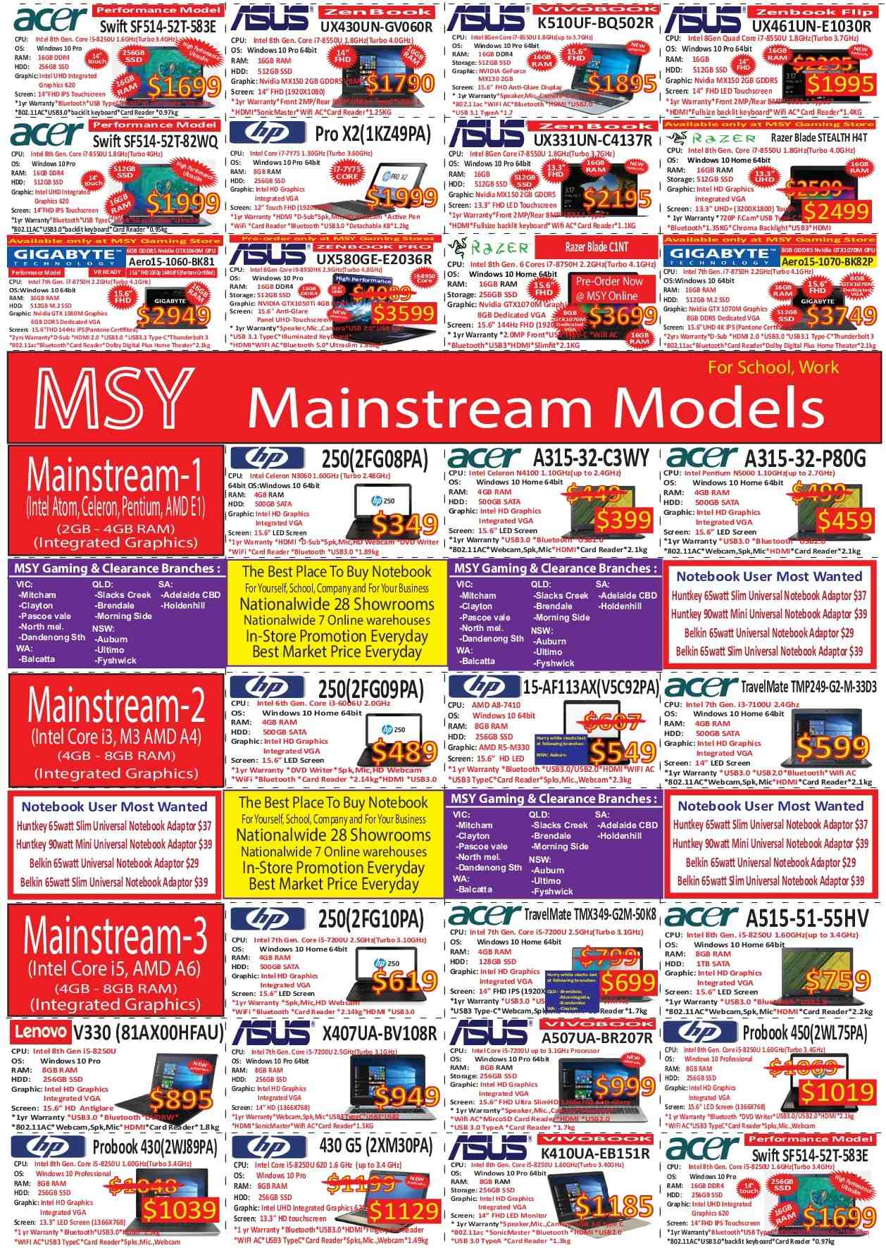 MSY Technology catalogue  - 1.9.2018 - 23.9.2018. Page 3.