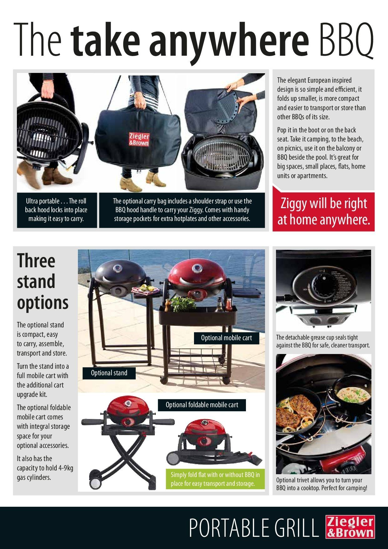 Barbeques galore catalogue sales products cart cooktop cup charging stand