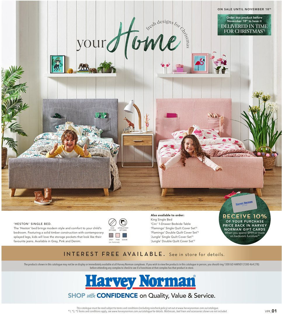 Harvey Norman catalogue  - 26.10.2018 - 18.11.2018. Page 1.