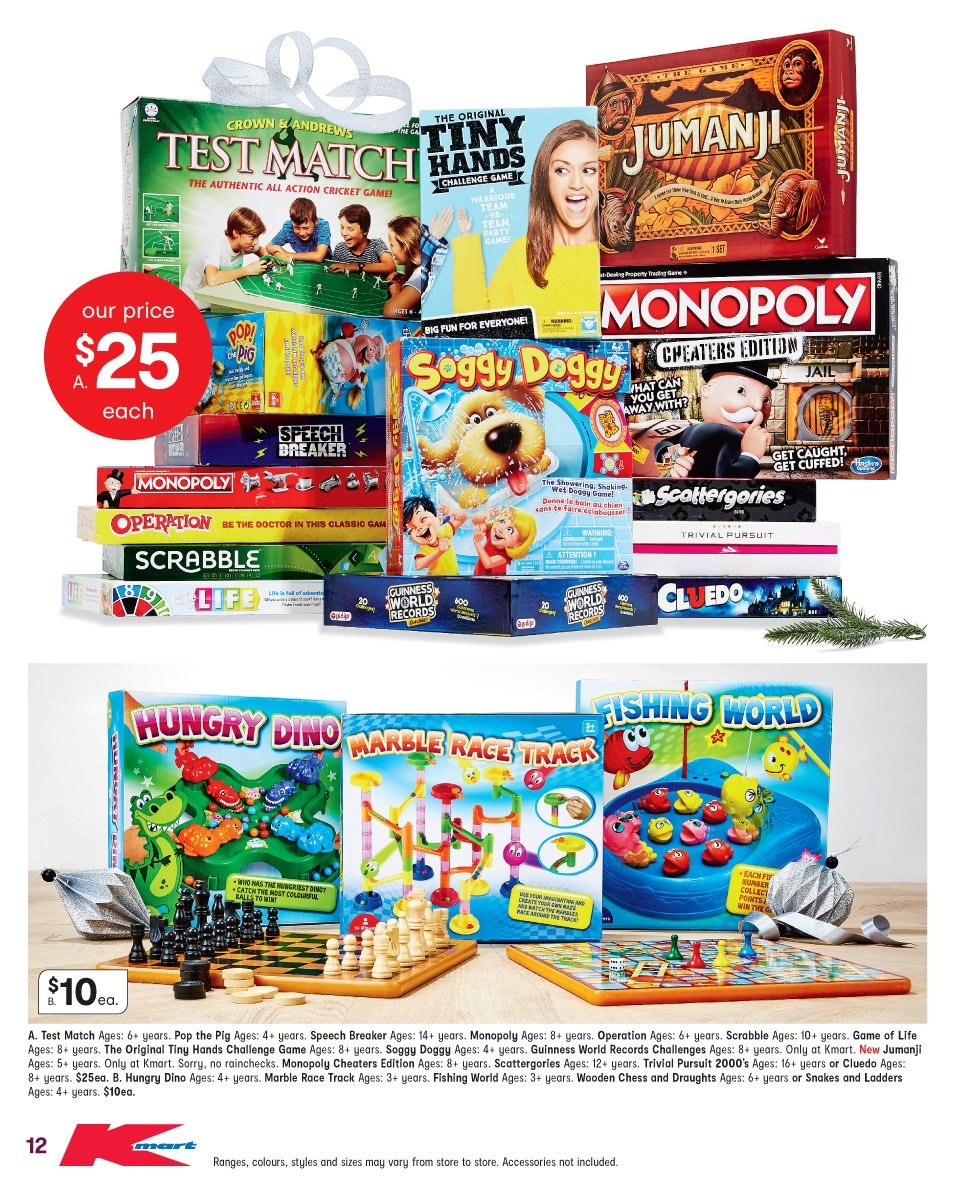 Kmart catalogue  - 1.11.2018 - 14.11.2018. Page 12.