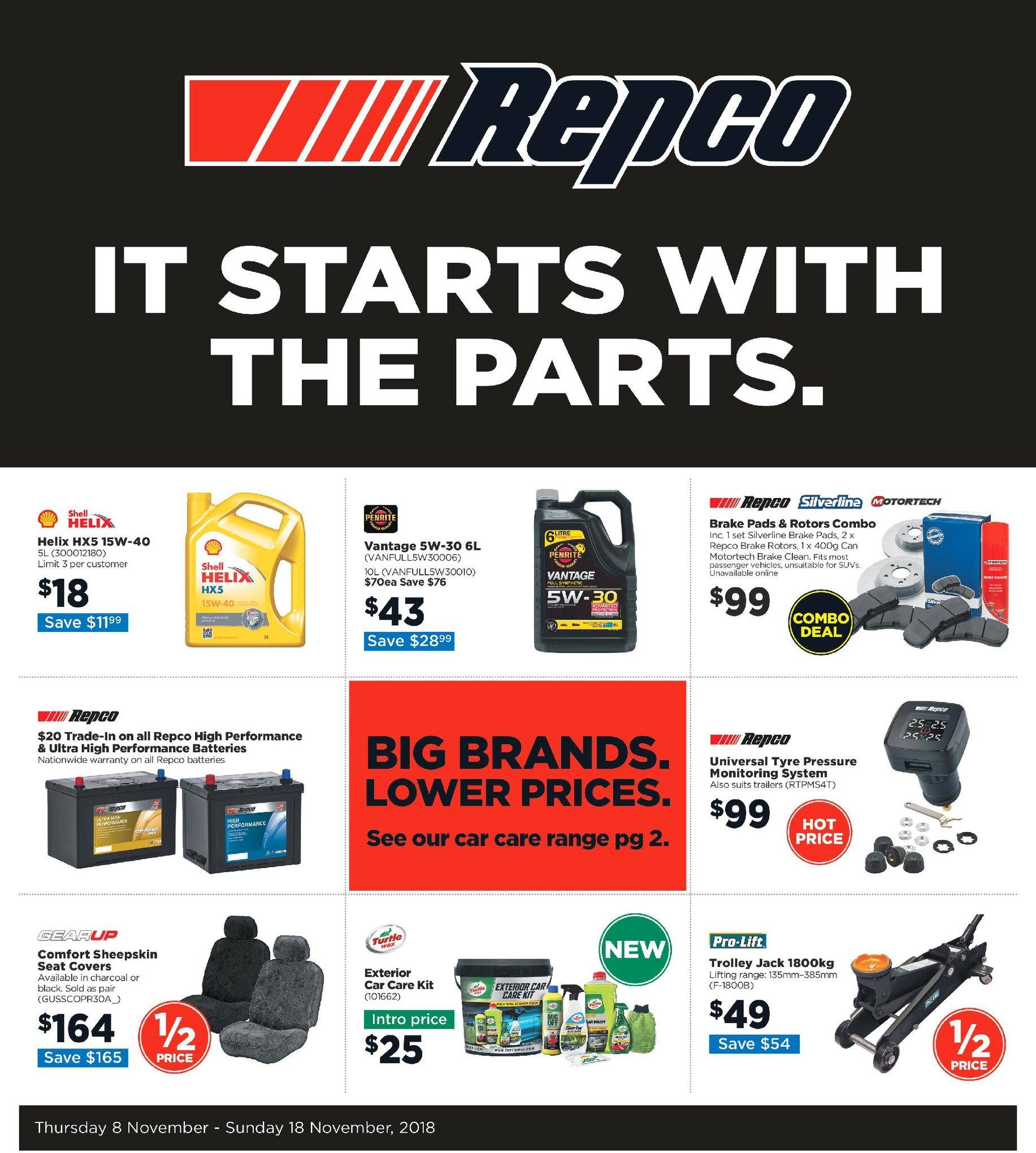 Repco catalogue  - 8.11.2018 - 18.11.2018. Page 1.