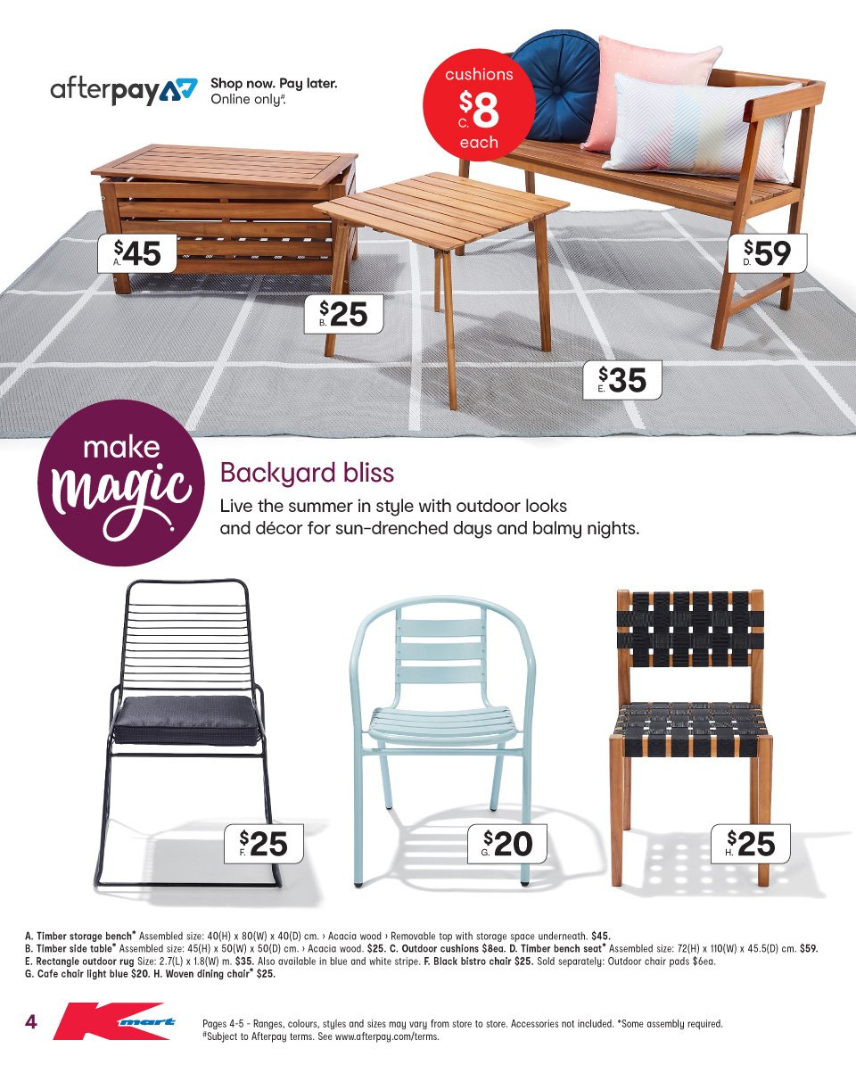 Kmart catalogue  - 8.11.2018 - 21.11.2018. Page 4.