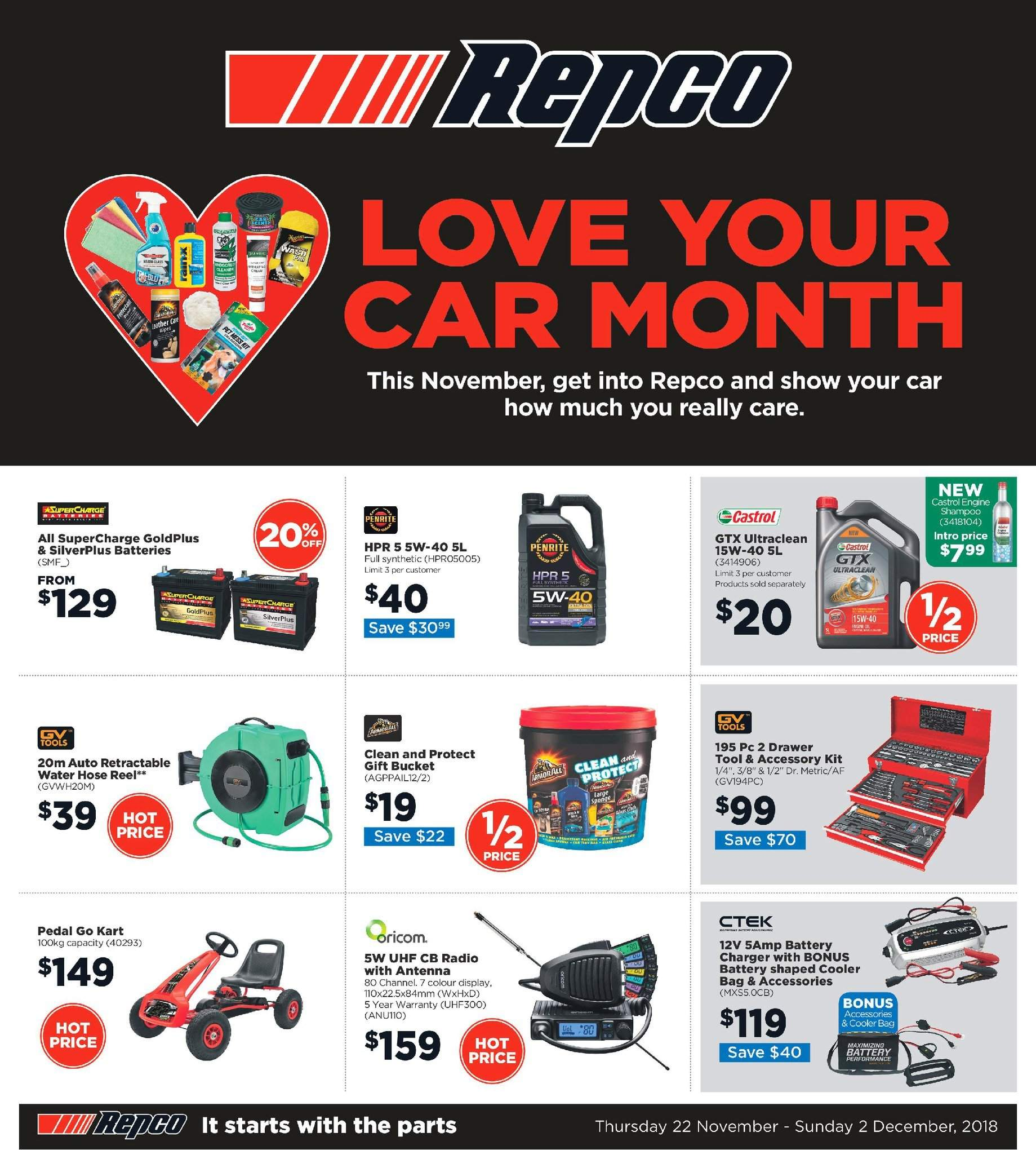 Repco catalogue  - 22.11.2018 - 2.12.2018. Page 1.