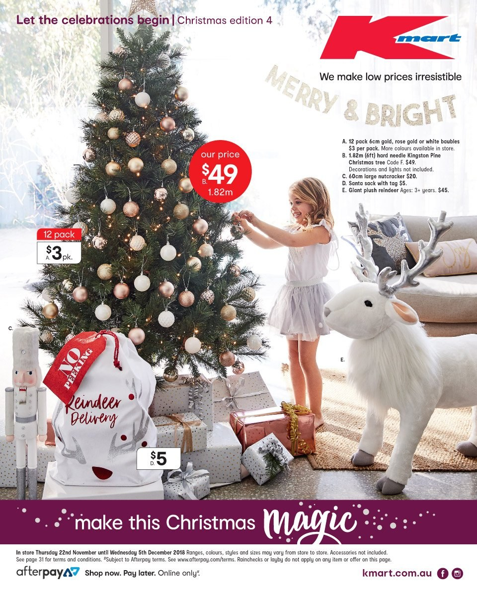 Kmart catalogue  - 22.11.2018 - 5.12.2018. Page 1.