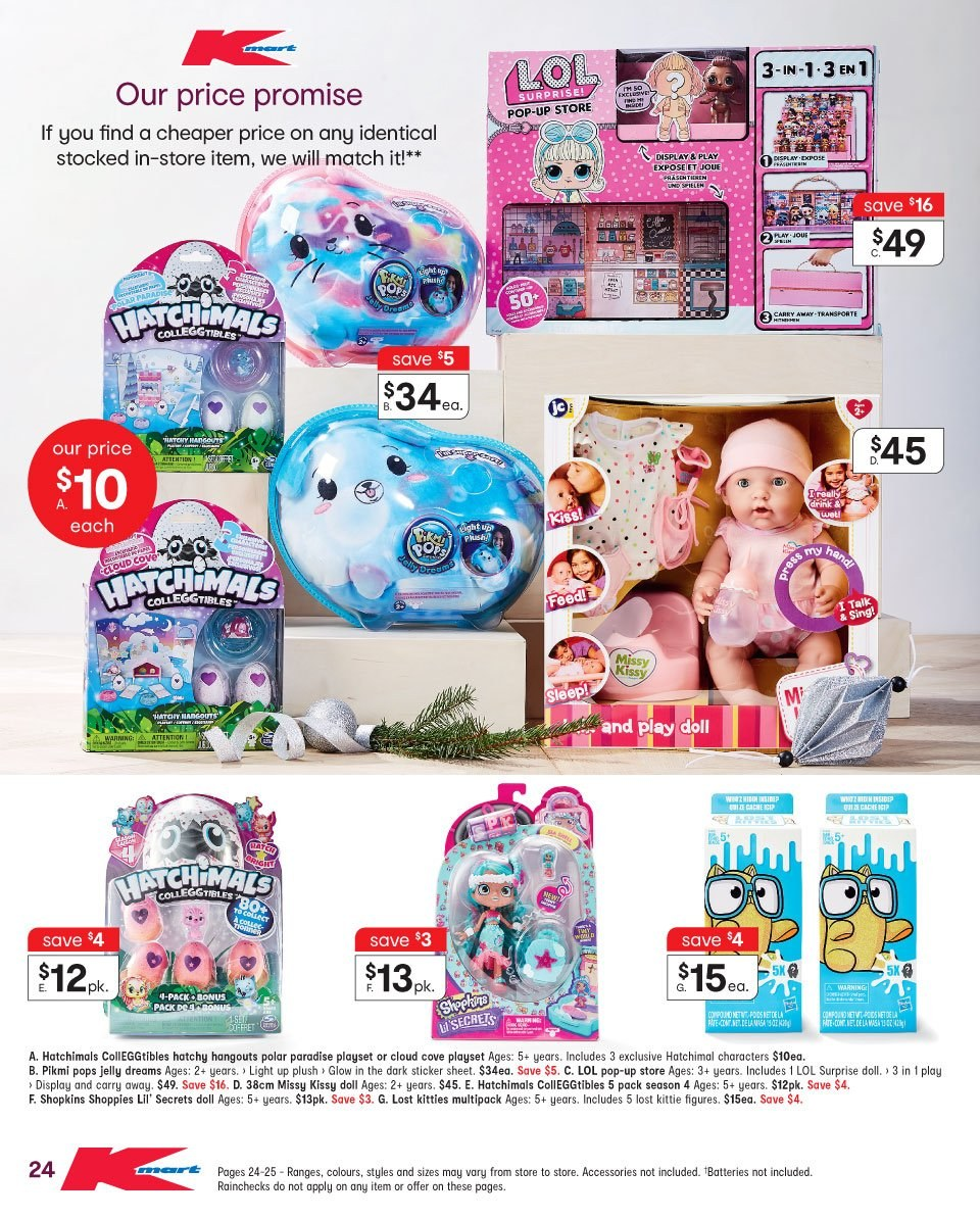 Kmart catalogue  - 22.11.2018 - 5.12.2018. Page 24.