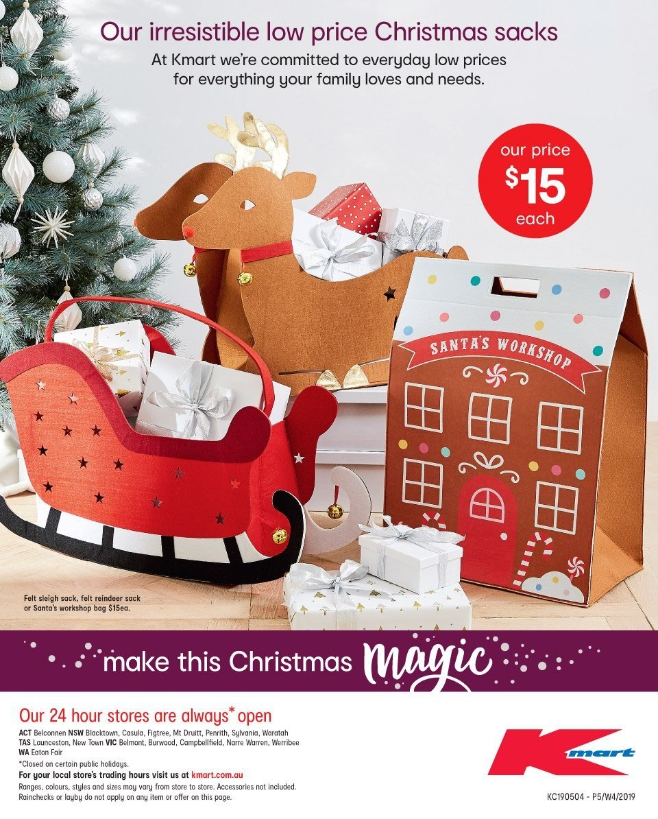 Kmart Catalogue - 22.11.2018 - 5.12.2018 - Sales products - reindeer,