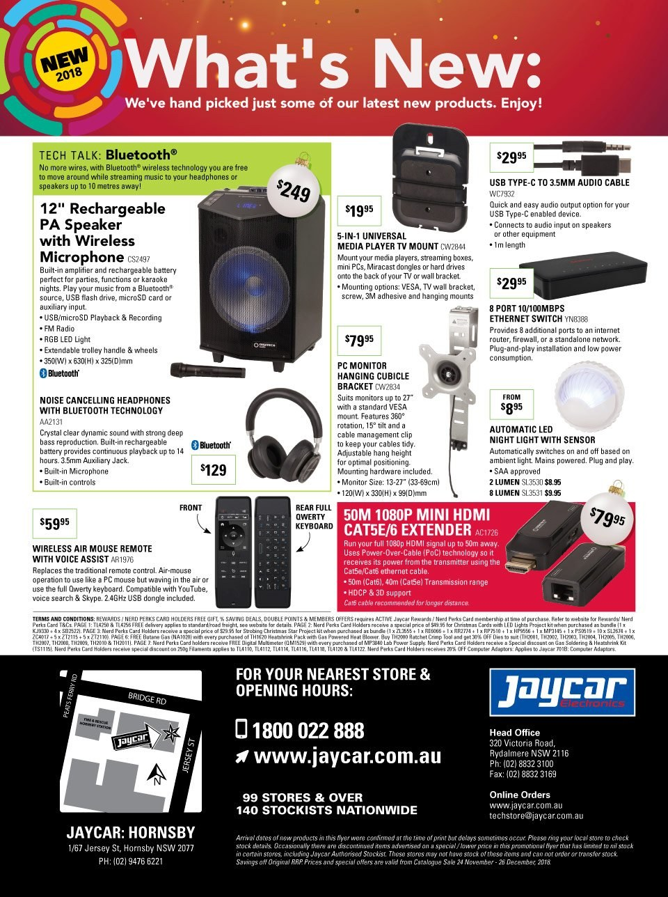 Jaycar Electronics catalogue and weekly specials 24 11 2018 - 26 12
