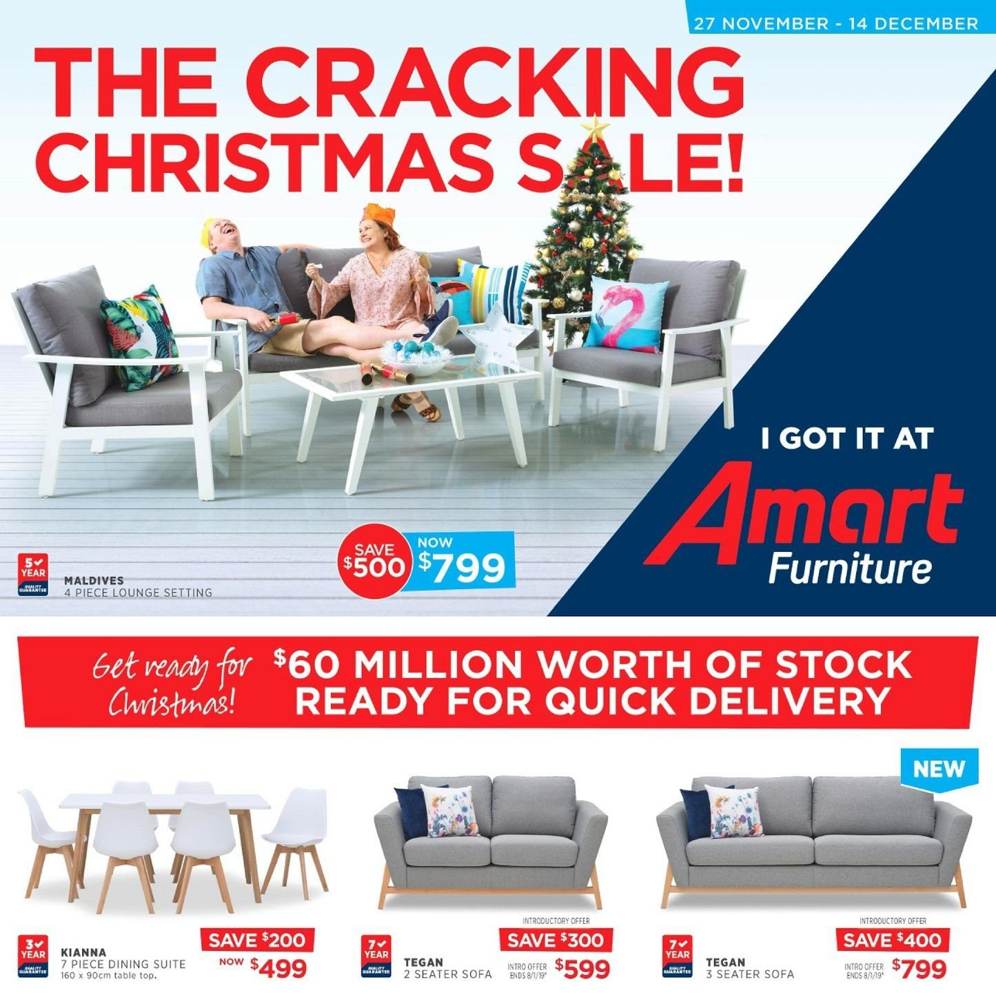 Amart Furniture catalogue  - 27.11.2018 - 14.12.2018. Page 1.