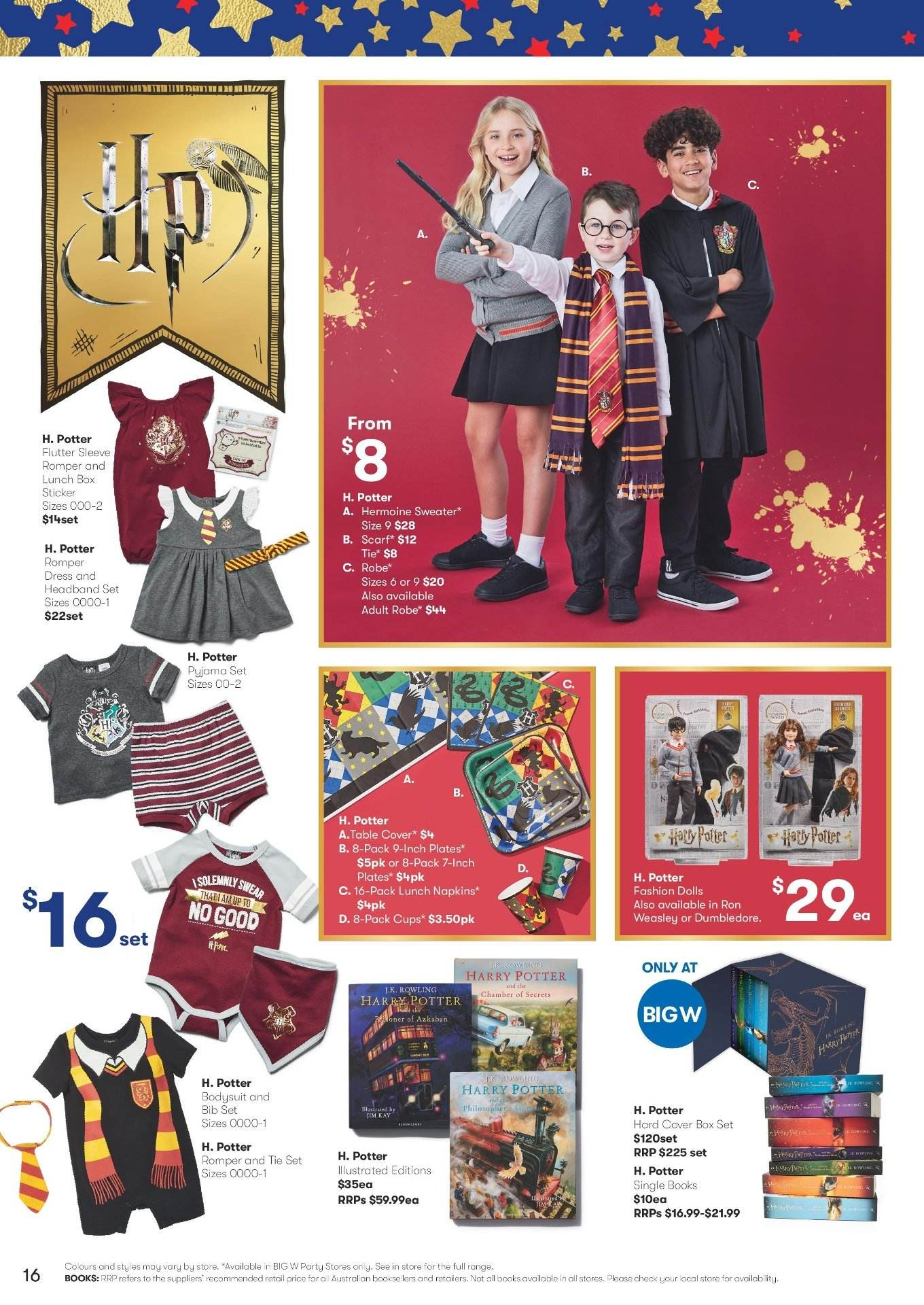 BIG W Catalogue - 29.11.2018 - 12.12.2018 - Sales products - bib, box, cover, doll, dress, robe, scarf, sweater, table, tie, plate. Page 16.