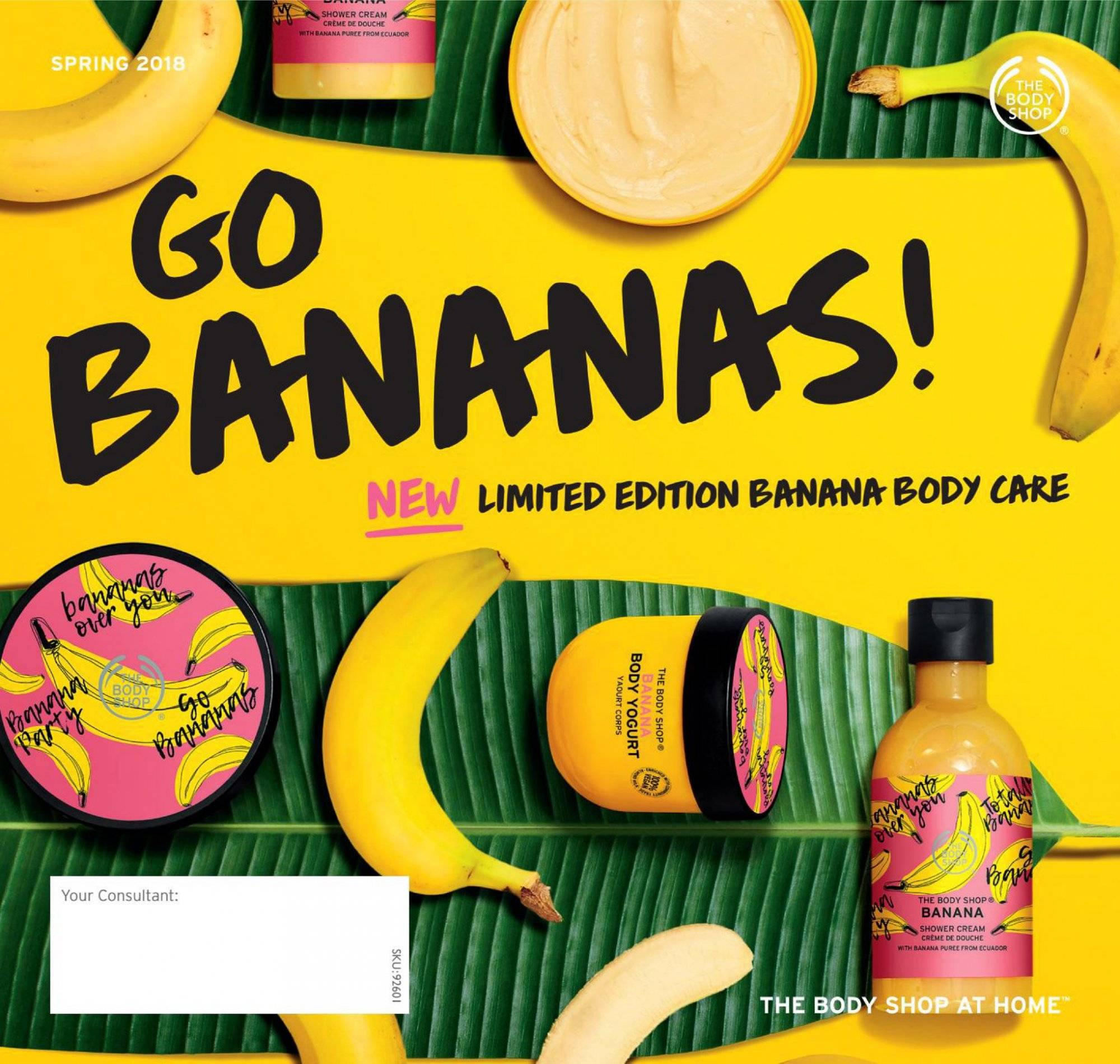 The Body Shop Catalogue - 25.9.2018 - 2.1.2019 - Sales products - bananas, cream, crème. Page 1.