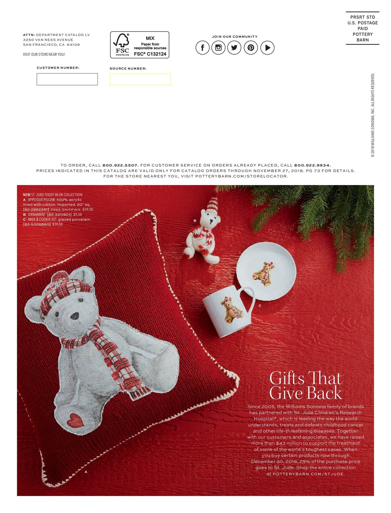 Pottery Barn catalogue and weekly specials 19 11 2018