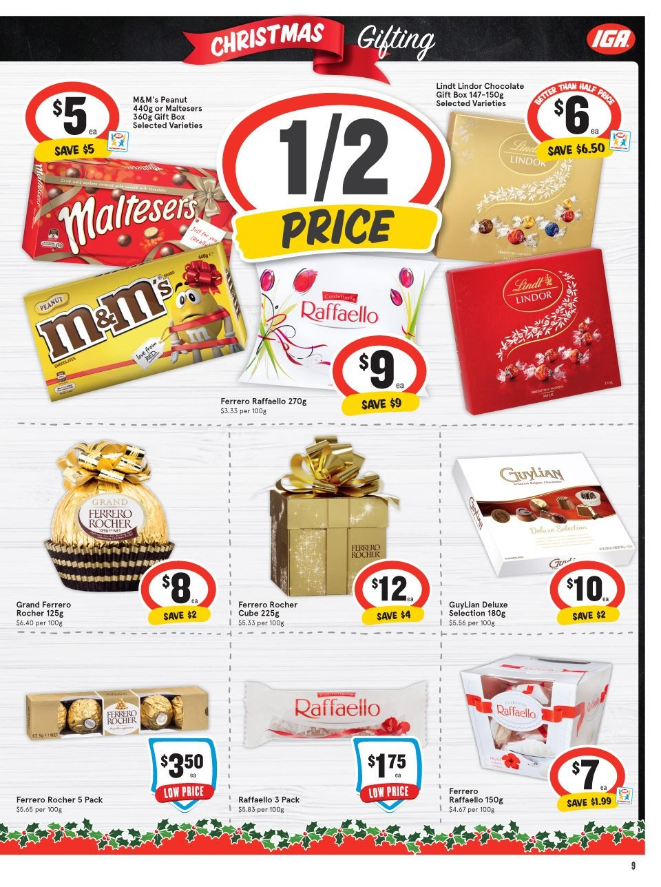 IGA Catalogue - 5.12.2018 - 11.12.2018 - Sales products - box, grand, peanuts, chocolate. Page 9.