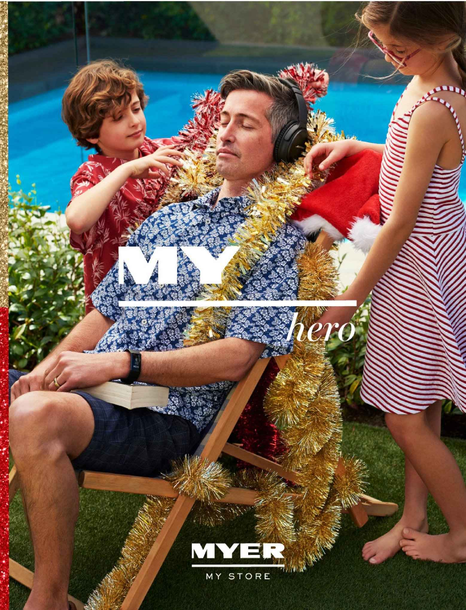 Myer catalogue  - 4.12.2018 - 16.12.2018. Page 1.