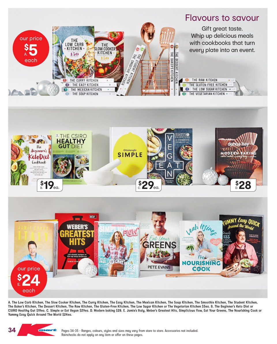 Kmart catalogue  - 6.12.2018 - 19.12.2018. Page 34.