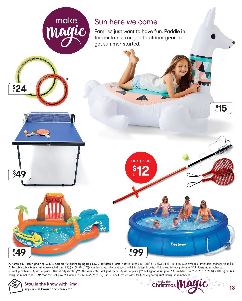 Kmart catalogue  - 13.12.2018 - 24.12.2018. Page 13.