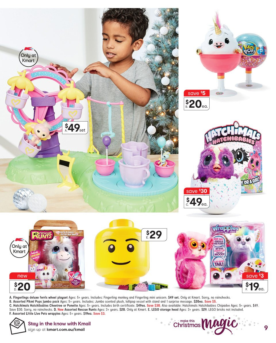 Kmart catalogue  - 19.12.2018 - 24.12.2018. Page 9.