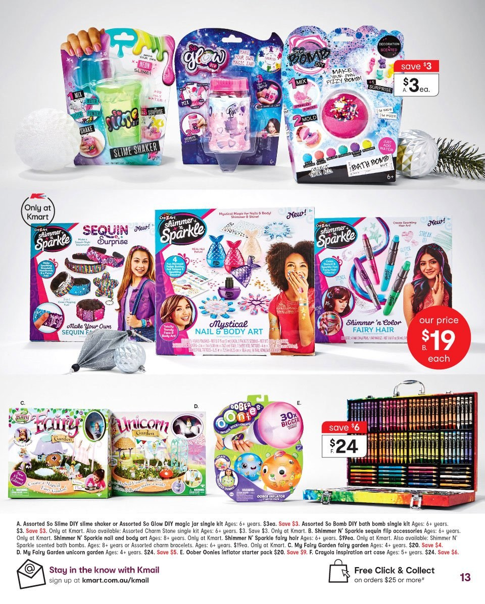 Kmart catalogue  - 19.12.2018 - 24.12.2018. Page 13.
