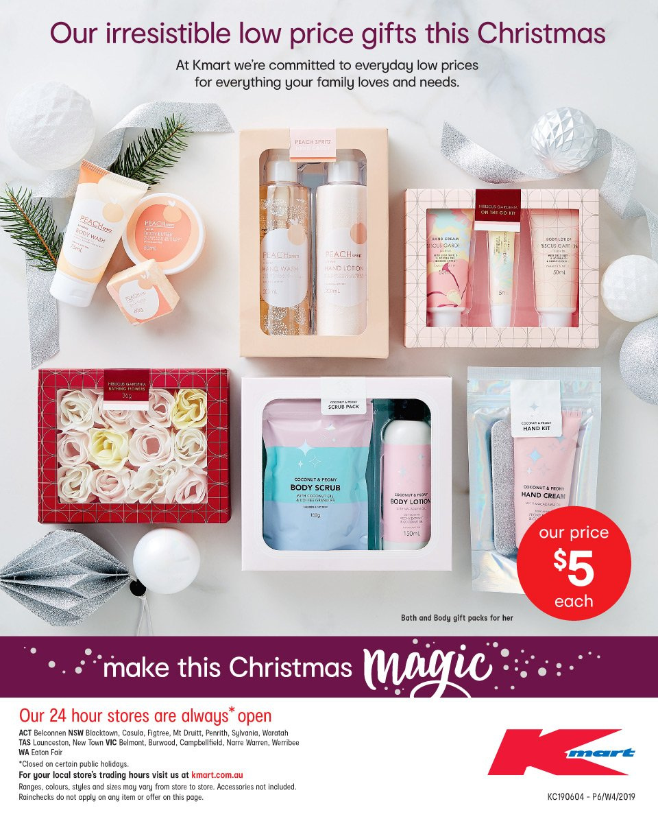 Kmart catalogue and weekly specials 19 12 2018 - 24 12 2018 | Au